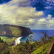 Waipo Valley Lookout-big Island Hawaii Art Print