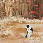 Waiting At Woods Edge Art Print
