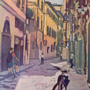 Waiting Bike Art Print
