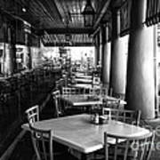 Waiting For Customers In New Orleans Mono Art Print