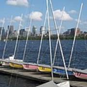 Waiting For Sailors On The Charles Art Print