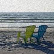 Waiting For Sunset Art Print