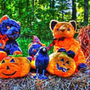 Waiting For The Great Pumpkin  Drybrush 01 Grunge Art Print