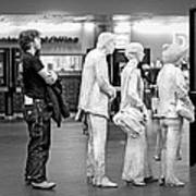 Waiting In Line At Grand Central Terminal 1 - Black And White Art Print