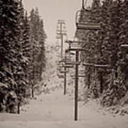 Waiting Ski Lifts Art Print
