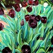 Walk Among The Tulips Art Print