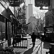 Walk Manhattan 1980s Art Print