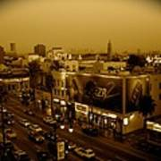 Walk Of Fame Hollywood In Sepia Art Print