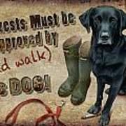 Walk The Dog Art Print by JQ Licensing