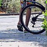 Walking And Biking Art Print
