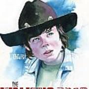 Walking Dead Carl Art Print