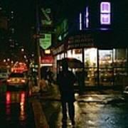 Walking Home In The Rain Art Print