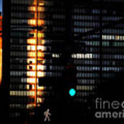 Walking Man - Architecture Of New York City Art Print
