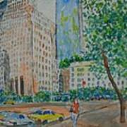 Ny Near The Plaza Art Print