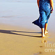 Walking On The Beach Art Print