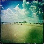 Walking On The Beach Art Print