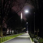 Walking Path Along The Reflecting Pool Art Print