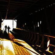 Walking Through History - Elizabethton Tennesse Covered Bridge Art Print