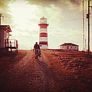 Walking To The Lighthouse Art Print