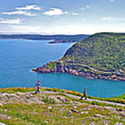 Walking Trails Everywhere In Signal Hill National Historic Site In St. John's-nl  Art Print