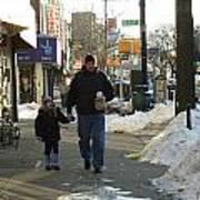 Walking With Dad Art Print