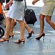 Walking With High Heels Art Print