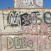 Wall Art Graffiti Concrete Walls Casa Grande Arizona 2004 Art Print