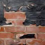 Wall Brick Art Print