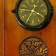 Wall Clock And Plague Art Print