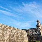 Wall Of Cartagena Colombia Art Print