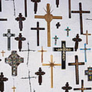 Wall Of Crosses Art Print