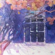 Wall Of Hydrangea Art Print