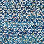 Wall Of Skulls Art Print