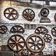 Wall Of Wheels Art Print