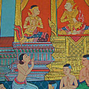 Wall Painting 2 In Wat Po In Bangkok-thailand Art Print