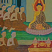 Wall Painting 3 In Wat Po In Bangkok-thailand Art Print