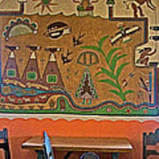 Wall Painting In Painted Desert Inn Cafe In Petrified Forest National Park-arizona  Art Print