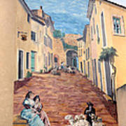 Wall Painting In Provence Art Print