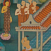 Wall Painting In Wat Po In Bangkok-thailand Art Print