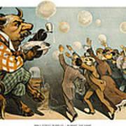 Wall Street Bubbles Always The Same Art Print