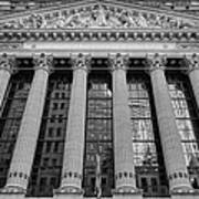 Wall Street New York Stock Exchange Nyse Bw Art Print