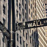 Wall Street Sign Art Print