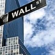 Wall Street Street Sign New York City Art Print