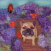Wallace In The Garden Art Print