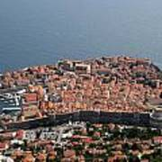 Walled City Of Dubrovnik Art Print