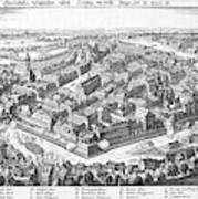 Wallenstein's Army Besieges  Leipzig Art Print