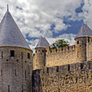 Walls Of Carcassonne Art Print