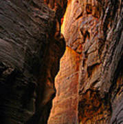 Wallstreet - The Narrows In Zion National Park. Art Print