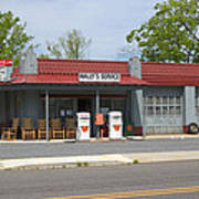 Wallys Service Station Mayberry Art Print by Bob Pardue