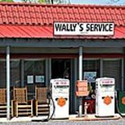Wally's Service Station Mayberry Nc Art Print by Bob Pardue